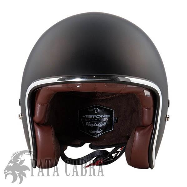 Casco Moto Astone Jet Vintage Negro